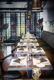 Wnętrze nowa restauracja Zdjęcie Stock
