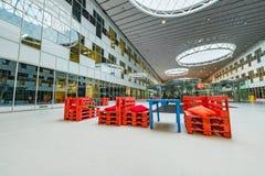 Wnętrze nowy budynek w Skolkovo Technopark Obrazy Stock
