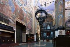 Wnętrze ortodoksyjna katedra Fotografia Stock
