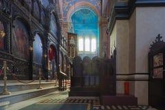 Wnętrze ortodoksyjna katedra Zdjęcie Royalty Free