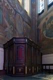 Wnętrze ortodoksyjna katedra Zdjęcia Royalty Free