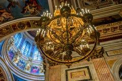 Wnętrze ortodoksyjna katedra Obrazy Royalty Free