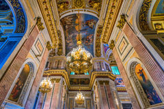 Wnętrze ortodoksyjna katedra Obraz Stock