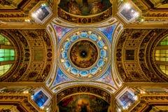 Wnętrze ortodoksyjna katedra Fotografia Royalty Free