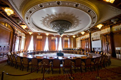 Wnętrze parlamentu budynek w Bucharest, Rumunia Zdjęcia Royalty Free