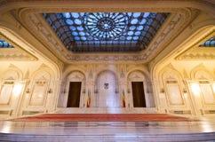 Wnętrze parlamentu budynek w Bucharest, Rumunia Obrazy Royalty Free