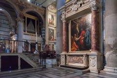 Wnętrze Pisa katedra w piazza dei Miracoli Obrazy Royalty Free
