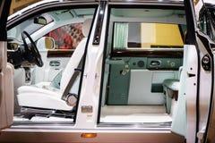 Wnętrze Rolls-Royce Phantom, Motorowy przedstawienie Geneve 2015 Obrazy Royalty Free