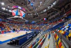 Wnętrze sport arena Megasport, Moskwa, Rosja Obraz Stock