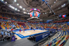 Wnętrze sport arena Megasport, Moskwa, Rosja Zdjęcia Stock