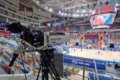 Wnętrze sport arena Megasport, Moskwa, Rosja Zdjęcia Royalty Free
