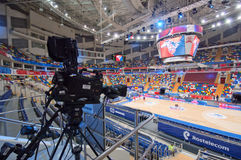 Wnętrze sport arena Megasport, Moskwa, Rosja Fotografia Stock