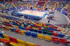 Wnętrze sport arena Megasport, Moskwa, Rosja Obraz Royalty Free