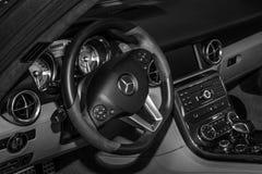 Wnętrze sporta samochodu Mercedes-Benz SLS AMG Coupe, 2012 Obraz Royalty Free