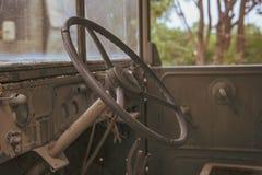 Wnętrze stary samochód Obrazy Stock