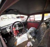 Wnętrze stary samochód, Peru Obraz Stock