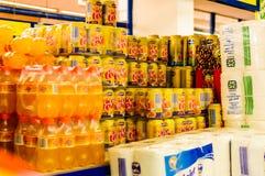 Wnętrze supermarket Zdjęcia Royalty Free