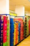Wnętrze supermarket Obrazy Royalty Free