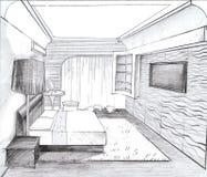 Wnętrze sypialnia Fotografia Stock
