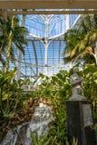 Wnętrze szklarnia przy Curitiba ogródem botanicznym - Curitiba, Parana, Brazylia Zdjęcia Stock