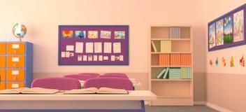 Wnętrze szkolna sala lekcyjna Fotografia Stock