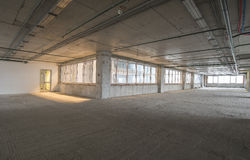 Wnętrze w budowie centrum biznesu Fotografia Stock