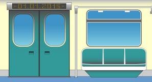 Wnętrze wagon metru royalty ilustracja