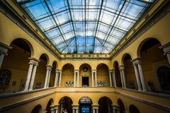 Wnętrze Walter muzeum sztuki w Mount Vernon, Baltimore, Fotografia Royalty Free