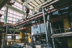 Wnętrze wielka zaniechana Radziecka fabryka Zdjęcie Stock