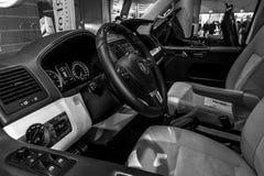 Wnętrze wolkswagena Multivan biznes Zdjęcia Stock