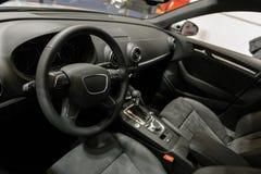 Wnętrze wysoki klasowy samochód Zdjęcie Stock