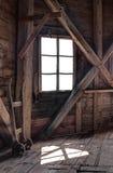 Wnętrze zaniechany drewniany dom Zdjęcie Royalty Free