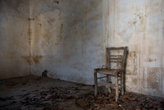 Wnętrze zaniechany straszny pusty pokój Obrazy Stock