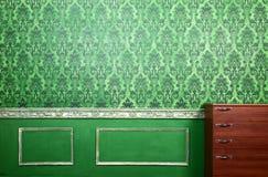Wnętrze zielony pokój z rokokowymi elementami Zdjęcia Royalty Free
