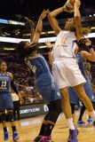WNBA Phoenix Mercury Beats Minnesota Lynx royalty-vrije stock foto