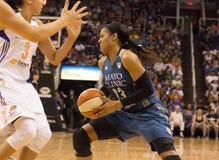 WNBA Phoenix Mercury Beats Minnesota Lynx. The Phoenix Mercury faced the Minnesota Lynx in WNBA professional basketball at the US Airways Center in Phoenix royalty free stock images