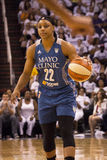 WNBA Phoenix Mercury Win Round One des finales Photos stock