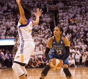 WNBA Phoenix Mercury Win Round One dos finais Fotografia de Stock Royalty Free