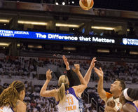 WNBA Phoenix Mercury Win Round One of Finals Royalty Free Stock Photos