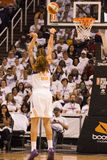 WNBA Phoenix Mercury Win Round One of Finals. The Phoenix Mercury faced the Minnesota Lynx in WNBA professional basketball at the US Airways Center in Phoenix stock image