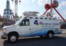 WNBC Channel 4 van in Brooklyn Stock Photography