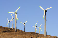 Wnd turbines in California Royalty Free Stock Photo