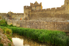 Wände des Cahir Schlosses Stockbild
