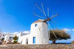 Wndmill in Parikia, Paros Stock Photos
