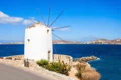 Wndmill in Parikia, Paros Stock Images