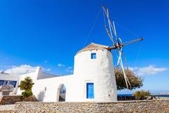 Wndmill in Parikia, Paros Royalty Free Stock Image