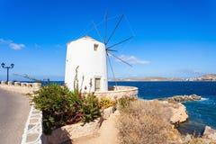 Wndmill in Parikia, Paros Royalty Free Stock Images