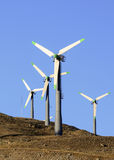 Wndturbines in Californië Stock Afbeelding