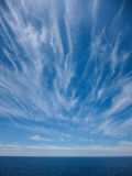 Wndy Clouds On The Evening Sky Royalty Free Stock Photo