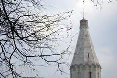 Wniebowstąpienie kościół w Kolomenskoye parku sylwetka Zdjęcie Royalty Free